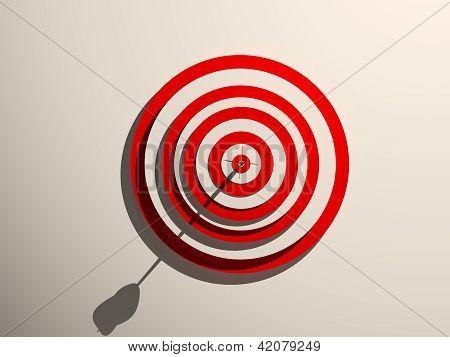 Red-white dartboard