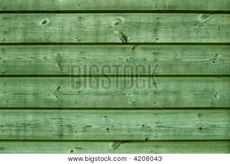 Green Wooden Boards