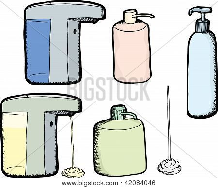 Lotion And Soap Bottles