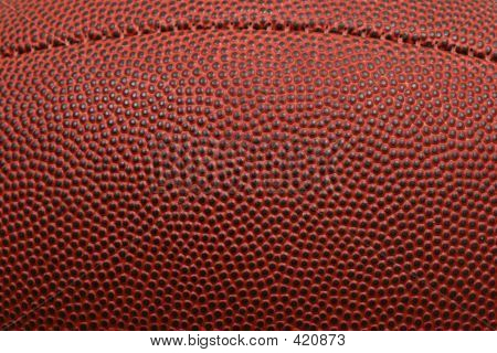 Close Up Of Football With Seam