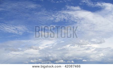 Blue Sky With Various Clouds