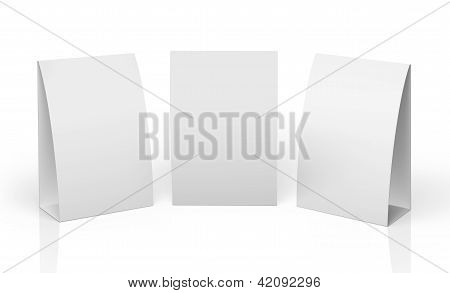 Blank Table Tent isolated on white background