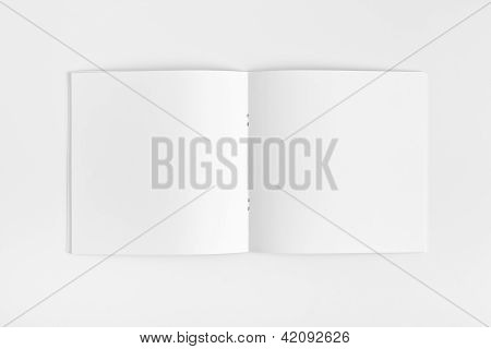 Blank opened Magazine isolated on White Background