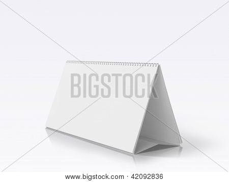 Blank Desk Calendar isolated