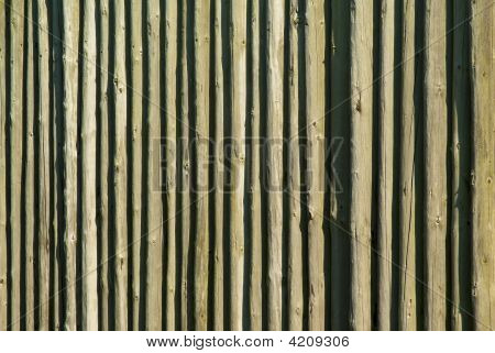 Wooden Log Pallisade Background Pattern