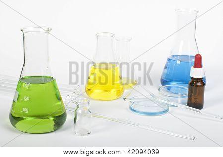 Equipo de cristalería de laboratorio