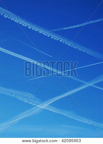 Net of contrails