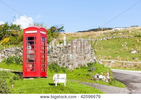 telephone booth, Clashnessie, Highlands, Scotland