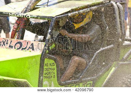 4X4 Racers Through Mud In Ecuador