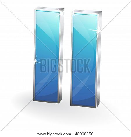 3d Glossy Multimedia Button Vector Icon