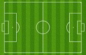 stock photo of football pitch  - Soccer or football field or pitch top view - JPG