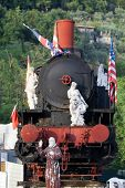 image of pio  - marble sculpture on the old locomotive - JPG