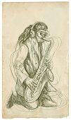 picture of sax  - Saxophonist - JPG