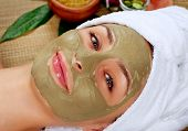stock photo of female mask  - Spa Mud Mask - JPG