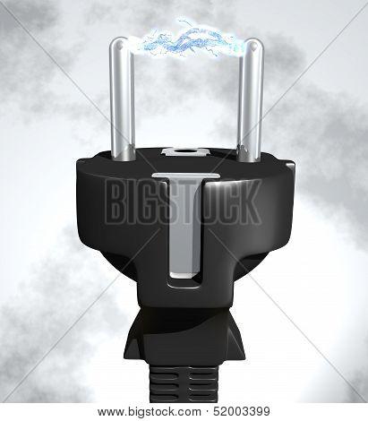 Plug With Voltage Arc