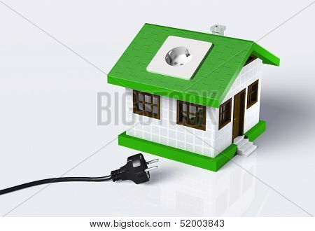 Small House Disconnected To The Electric Current