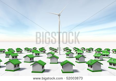 Small Houses Looked At A Wind Generator
