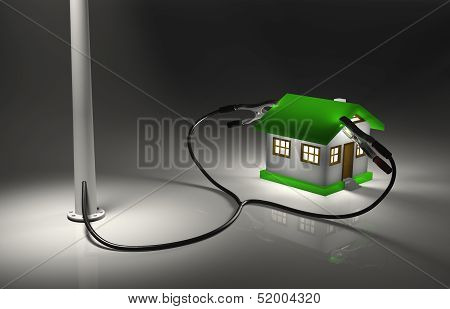 Streetlight Charges A Small House