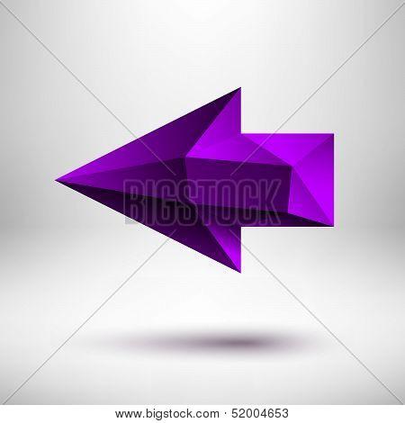 Purple Left Arrow Sign