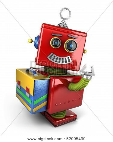 Student toy robot