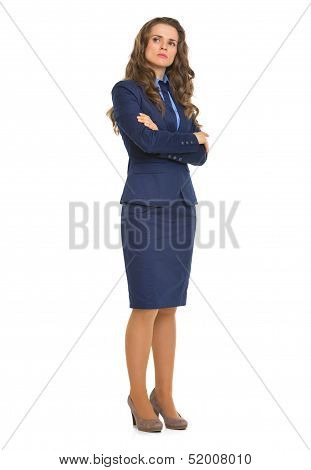 Full Length Portrait Of Confident Business Woman