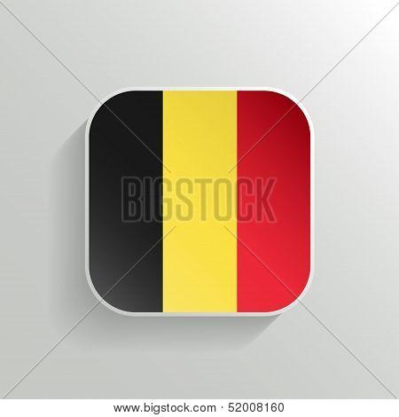 Vector Button - Belgium Flag Icon