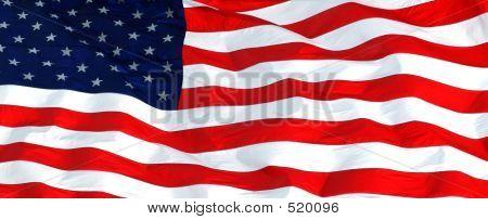 Us Flag Horizontal Right
