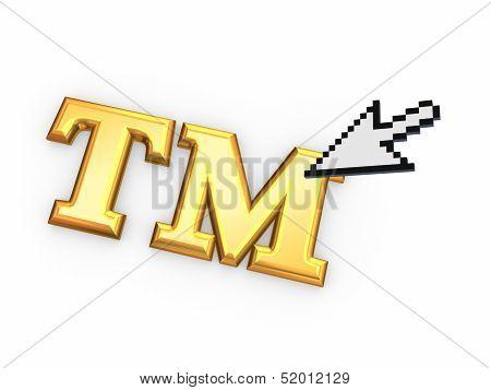 Cursor and TM symbol.