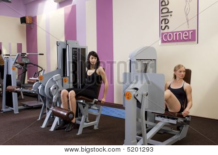 Woman In Fitness Center
