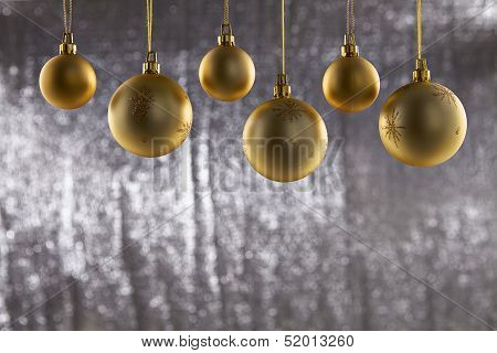 A Group Of Christmas Ball
