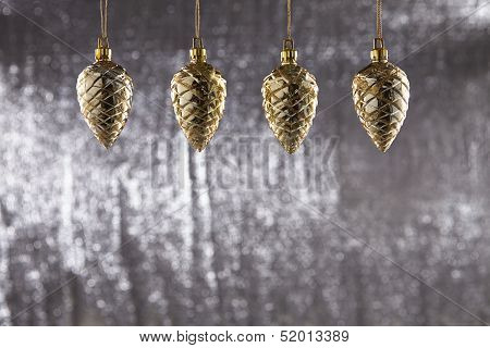 A Group Of Christmas Pine Cone