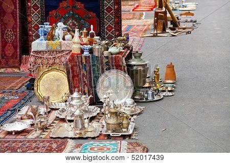 Street Flea Market In Yerevan