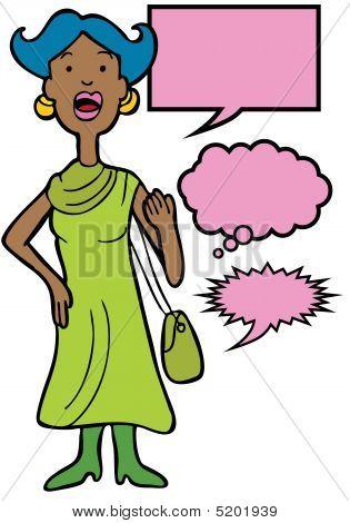 Outspoken Purse Woman