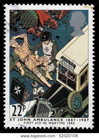 Britain St John Ambulance Postage Stamp