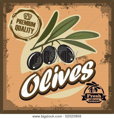 vintage olive sign