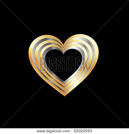 Metallic heart shaped ornament