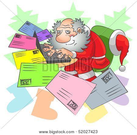 Santa And E-mail