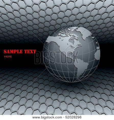 Business background 3D grey. vector illustration.