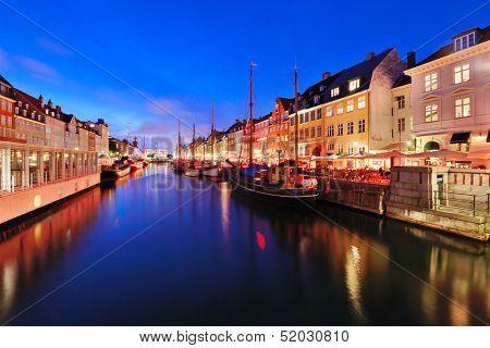 Nyhavn Canal in Copenhagen, Demark.