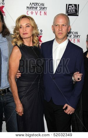 LOS ANGELES - OCT 7:  Jessica Lange, Ryan Murphy at the