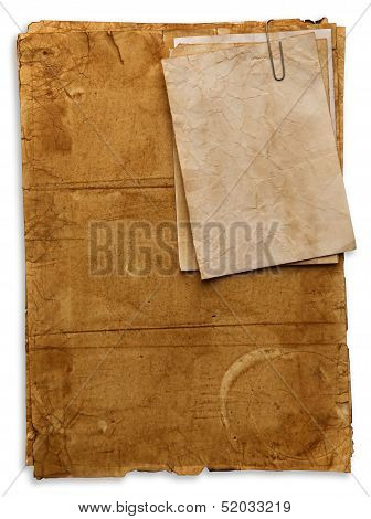 Old Papers Isolated On White