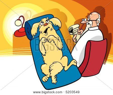 Perro en el psicoanalista