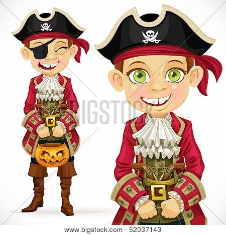 Cute Boy Dressed As Pirate Trick Or Treat.jpg