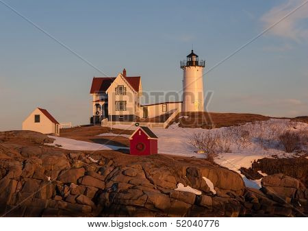 Nubble Light at sunset