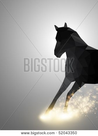 rushing horse - vector illustration