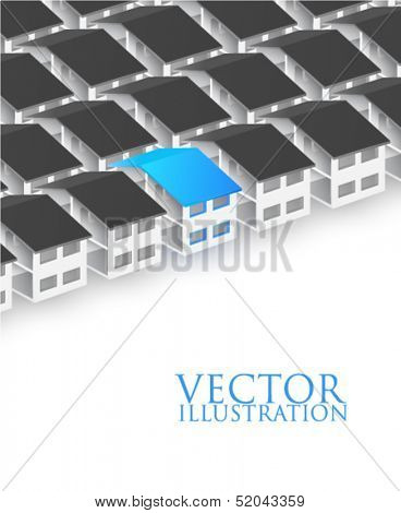 Row of houses - vector illustration