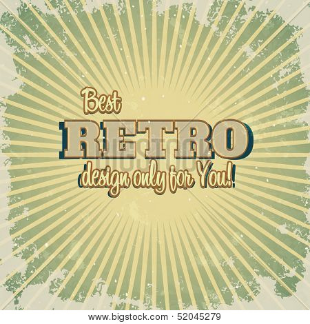 Retro sunburst pattern. Vector Template