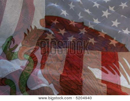 USA und Mexiko-flags