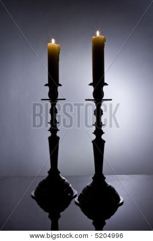 Jewish Shabbat Candles