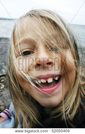 Silly Girl Showing Teeth